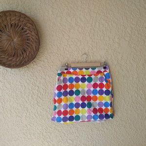 Loud mouth ladies polka dots  golf mini skirt